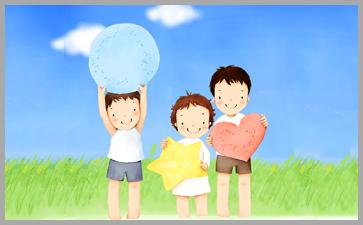 孩子和父母一起亲子活动促进感情交流